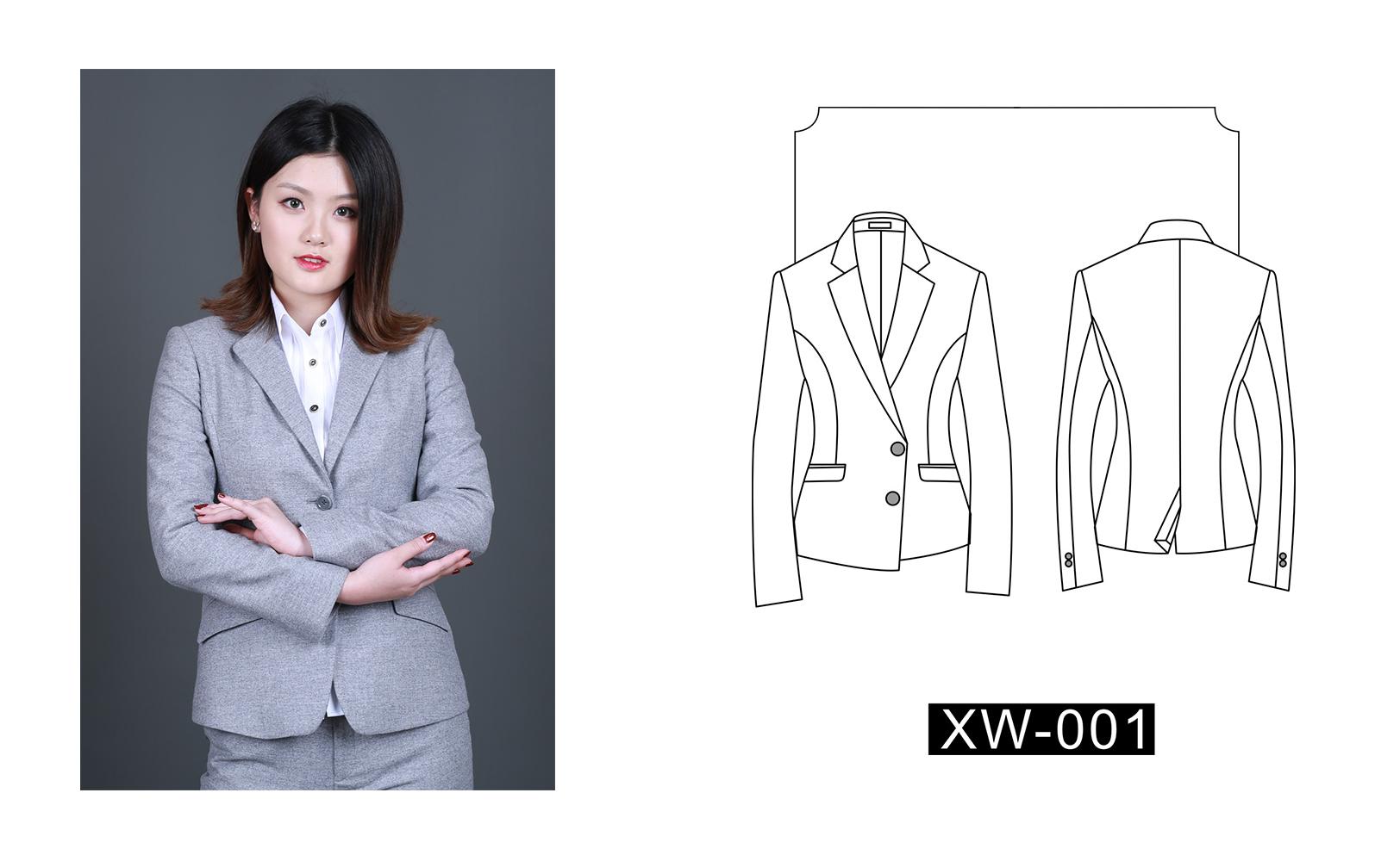 女士西装XW-001(图1)